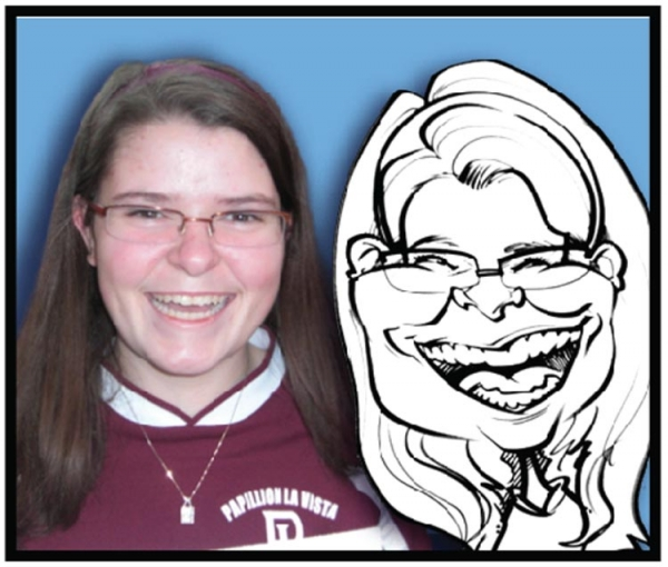 Party caricature by Dexter Rothchild
