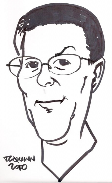 Party caricature by TC Quinn