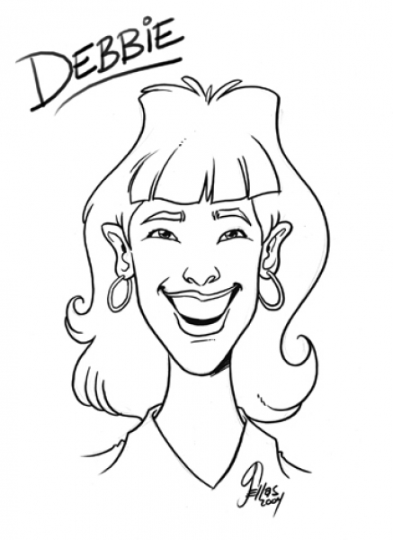 Party caricature by George Sellas