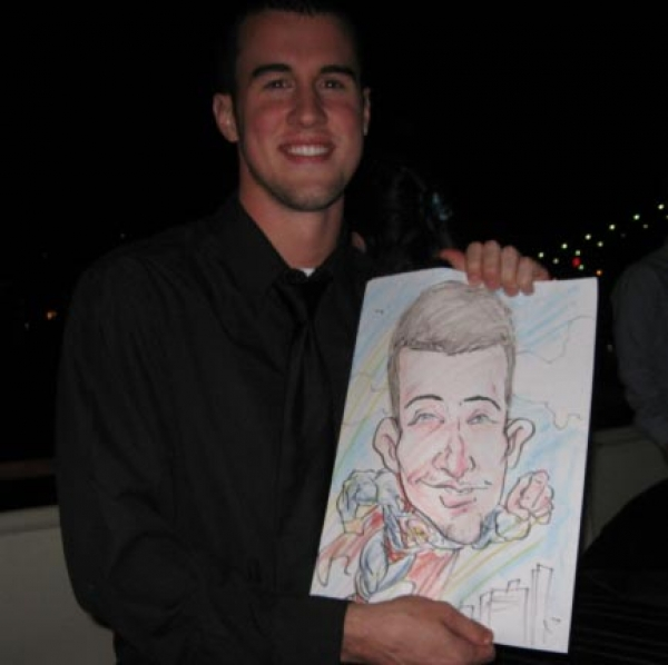 Gary Gaz Party Caricature