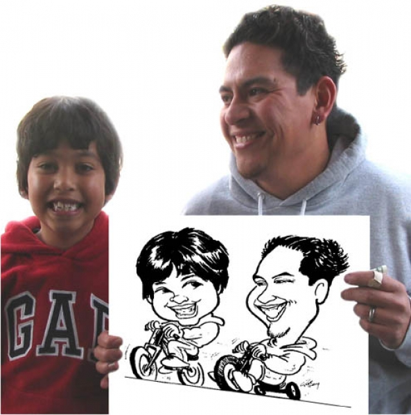 Rene Pulido Party Caricature