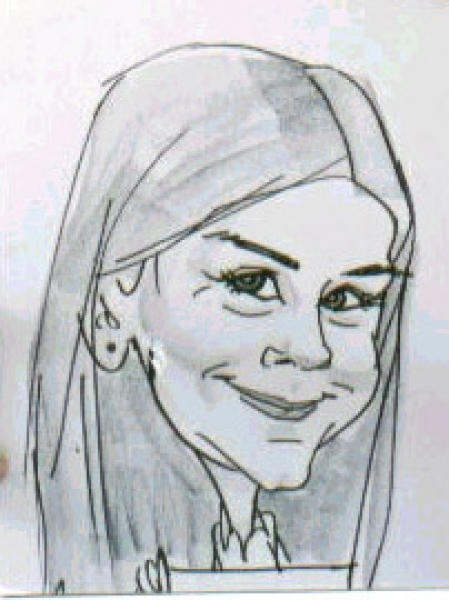 Entera Party Caricature
