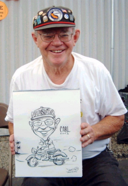 James Malia Party Caricature
