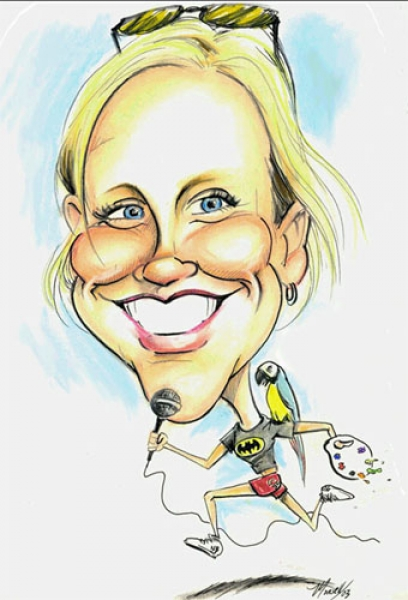 Jordan Monsell Party Caricature