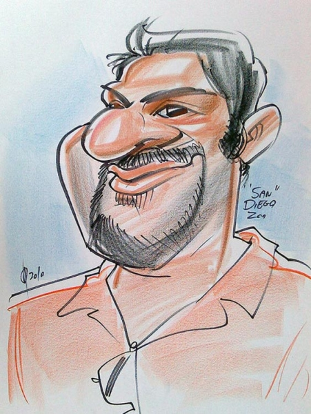 David Patel Party Caricature
