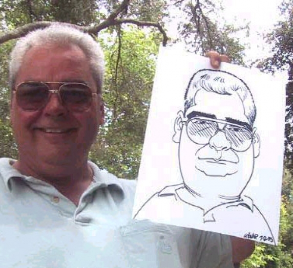 Grant Pominville Party Caricature