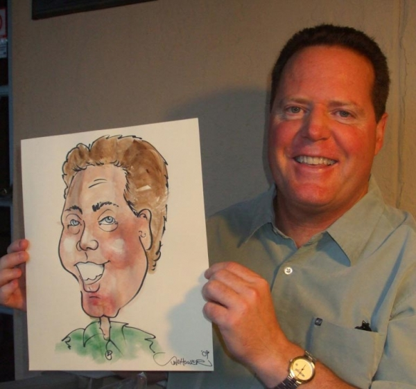 Sunshower Rose Party Caricature