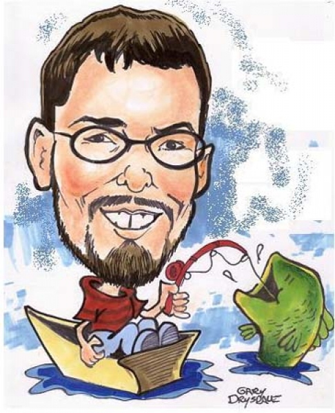 Gary Drysdale Party Caricature