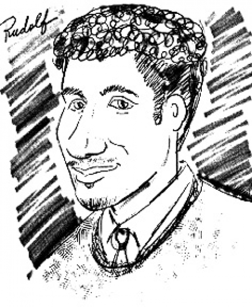 Flory Freshman Party Caricature