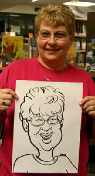 Brooke Howell Party Caricature