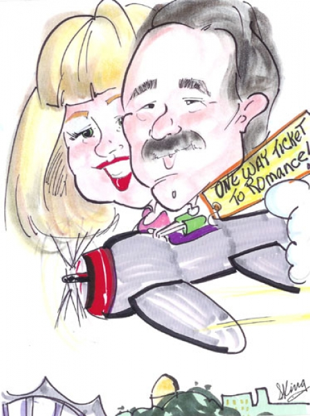 Sarah King Party Caricature