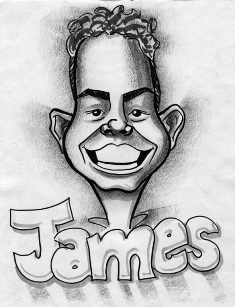 Matheu Spraggins Party Caricature