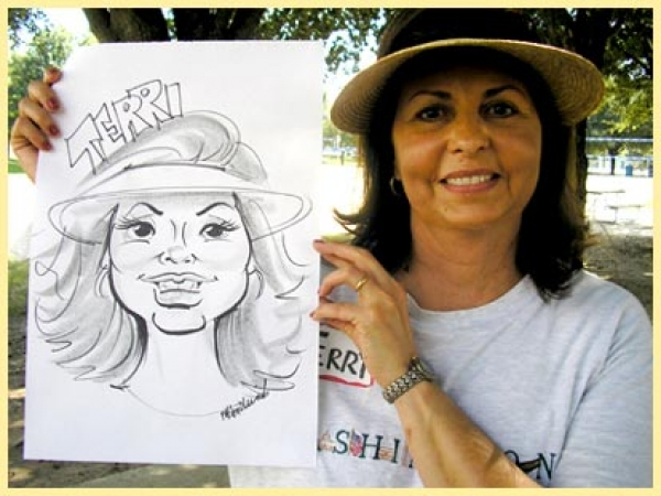 Marsha Hendricks Party Caricature