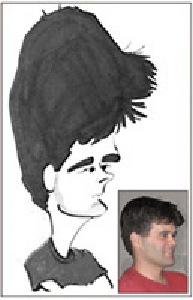 Mel Lothrop Party Caricature
