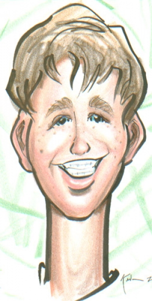 Kevin Middleton Party Caricature