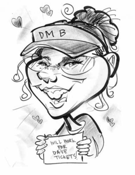 Party caricature by Maria Bolton