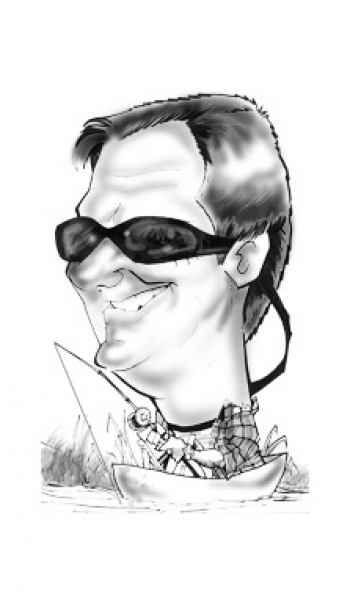 Cecil Roberts Party Caricature