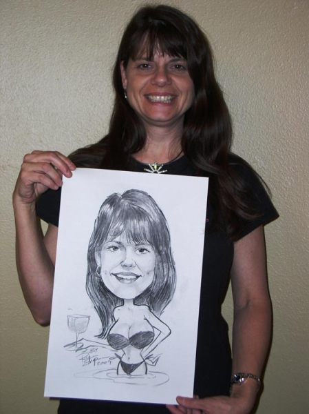 Ray Shipman Party Caricature