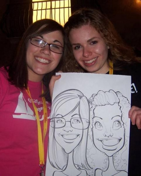 Beejay Hawn Party Caricature