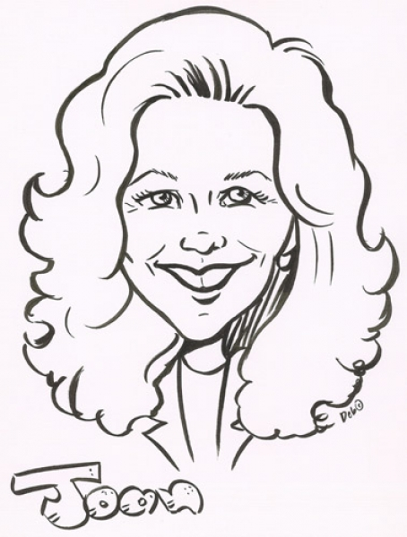 Deb McQueen Party Caricature