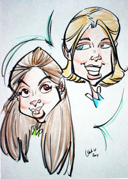 Chandra White Party Caricature