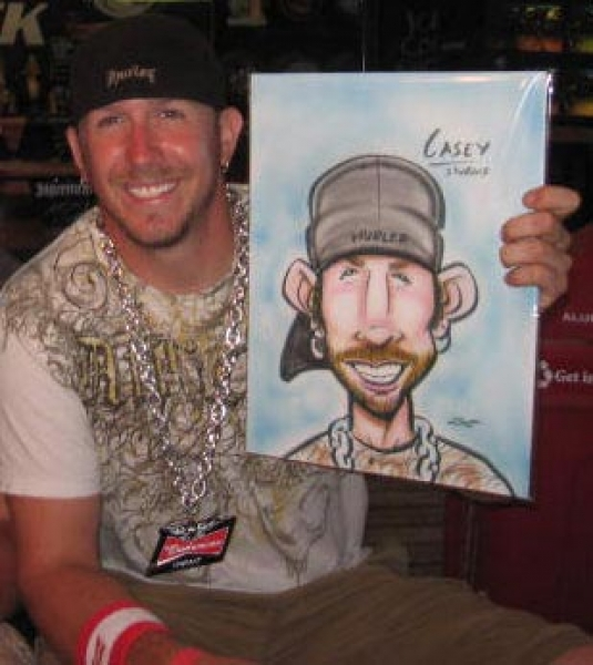 Nathan Lueth Party Caricature