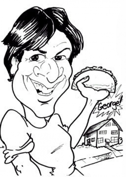 Michael Roate Party Caricature