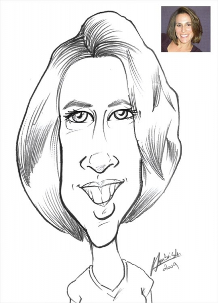 Robert Armbrister Party Caricature