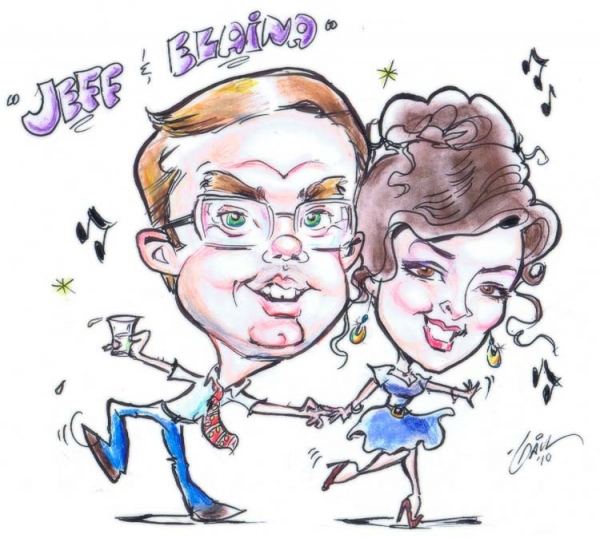 Gail Pomes Party Caricature