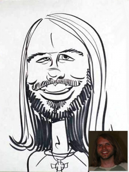 Allyson Lassiter Party Caricature