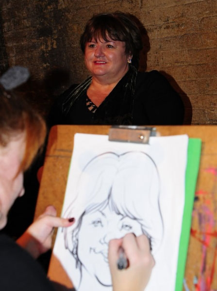 Leslie Gautheir Party Caricature