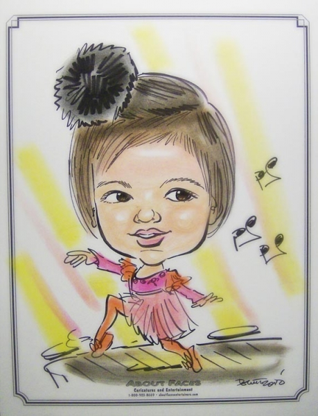 Patty Grush Party Caricature