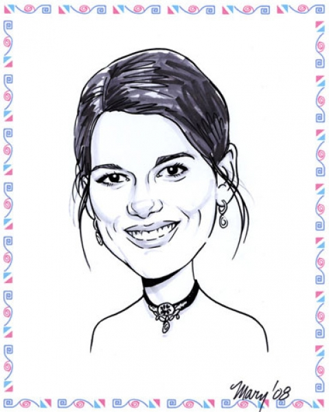 Mary Rochelle Party Caricature