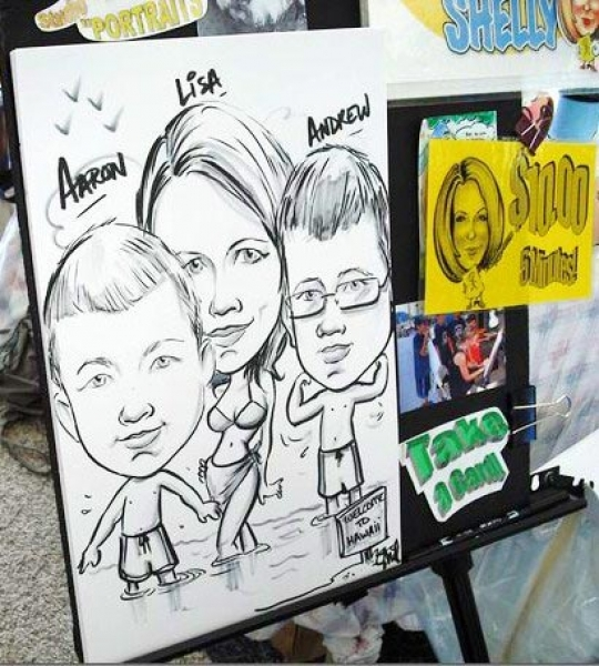 Shelly Flory Party Caricature
