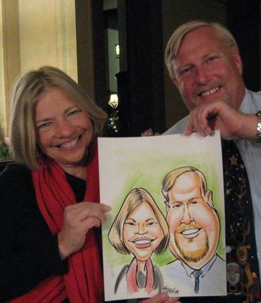 Paul McCall Party Caricature