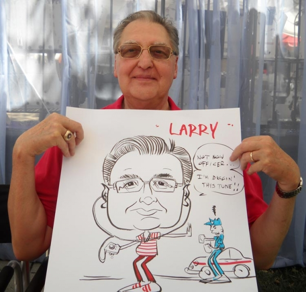 Two Handed Mikey Party Caricature