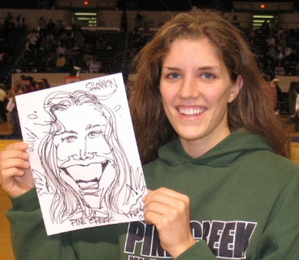 Rob Maystead Party Caricature