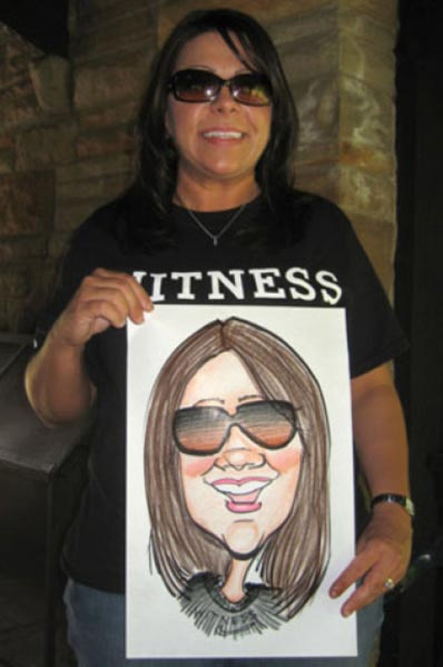 Party caricature by Sean Burris