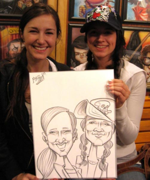 Party caricature by Carl Mefferd