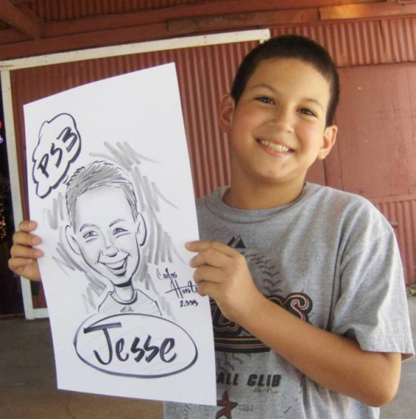 Party caricature by Carlos Huerta