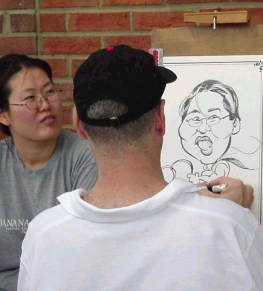 Jeff Mandell Party Caricature
