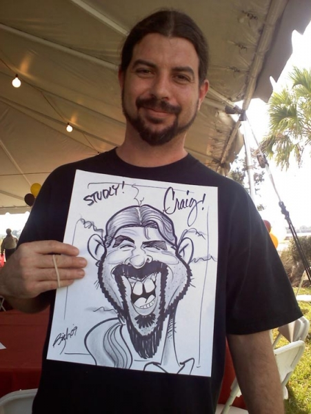 Rich Brown Party Caricature