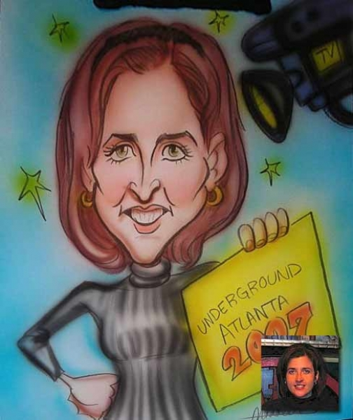 Keith Middleton Party Caricature