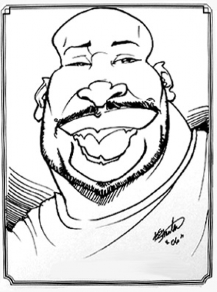 Dominike Stanton Party Caricature