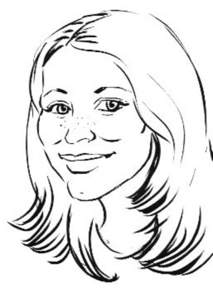 Party caricature by Suzanne Carson