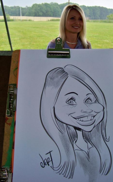 Jeremy Townsend Party Caricature