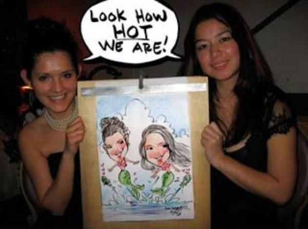 Party caricature by Jon Casey