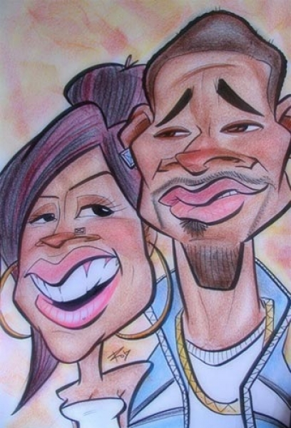 Rob Hren Party Caricature