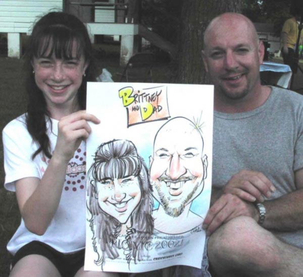 Party caricature by Chad Straka