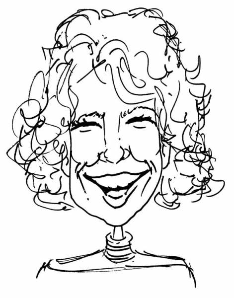 Duff Orlemann Party Caricature